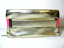 New Victoria's Secret Gold and Pink Faux Leather Clutch/Purse