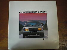 Prospekt Sales Brochure Chrysler Simca 1307 - 1308 Auto Car PKW   автомобиль