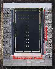 Gartentor Pforte Pulver Grau Hoftor Einfahrtstor Tür Tor Törchen 105cm x 180cm #