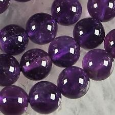 10mm Russican Amethyst Gemstone Round Loose Beads 15'' x-01