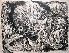 """Heinz otterson 1928-1979 Berlín/litografía """"el juicio final"""" 1961 sign."""