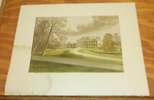 1866 Antique COLOR Print/HADDO HOUSE, ABERDEENSHIRE, HOME OF EARL OF ABERDEEN