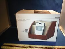 NEW Brookstone Mini Charging Valet Brown Color NIB Free Shipping