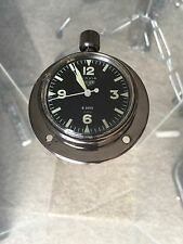 Navia Heuer 8 Day Manual Wind Yacht Clock - Excellent Condition!