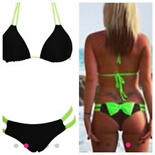 New HALTERNECK Tie Bow Bandage Bikini Set Swimsuit sizes Available 6-8-10-12-14