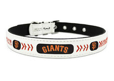 San Francisco Giants Large Leather Lace Dog Collar [NEW] MLB Pet Cat Lead CDG