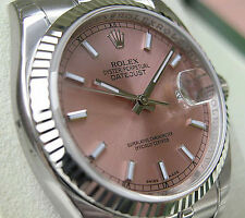 Rolex DATEJUST 116234 Mens Steel & White Gold Jubilee Pink Index Dial 36MM
