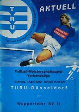 Programm 2001/02 Turu Düsseldorf - Wuppertaler SV II
