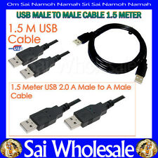 USB 2.0 A Male to A Male PC Laptop Hub Data Transfer Cable / Extension Cable