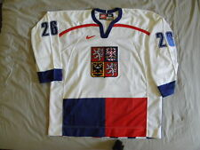Nike Authentic Czech Republic Hockey Jersey Patrik Elias 1998 Olympics size 54
