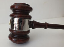 WONDERFUL VINTAGE AUTOMOTIVE BOOSTER CLUBS INT'L WOOD/SILVER GAVEL MALLET