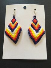 Native American Navajo Beaded Dangle Earrings Lucille Romone Jewelry Must Have