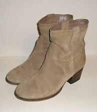 STEVE MADDEN SHAKKERR Women's Mocha Suede Leather Ankle Pull-On Boots Shoe 9.5 M