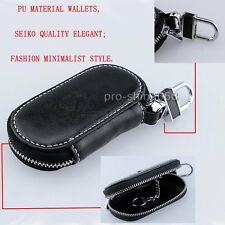 Key Leather Key Holder BAG Zipper  BLACK Cover Fit BMW 3 5 X Series 2012