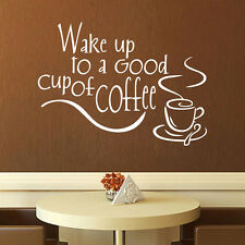 New Hot  DIY Coffee Removable Wall Stickers Kitchen Vinyl Decal Mural Home Decor