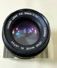 CANON LENS FD 50MM 1:1.4 MANVAL LANS GOOD CONDITION