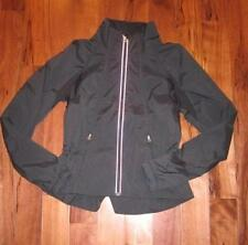 LULULEMON TRAVEL TO TRACK JACKET IN BLACK  SIZE 4