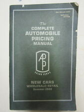 Complete AUTOMOBILE PRICING MANUAL New Cars Wholesale-Retail SUMMER 1965 Corvair