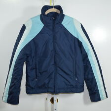 ABERCROMBIE & FITCH Women's 2 Tone Blue Zippered Lined Jacket Size M