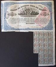 Brazil Brazilian 1888 Imperial 100 Banco Credito Real RARE Bond Loan