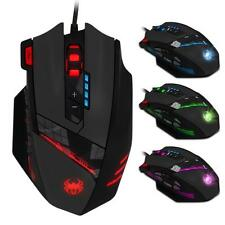 Zelotes C-12 4000 DPI Programmable Buttons LED Optical USB PRO Gaming Mouse Mice