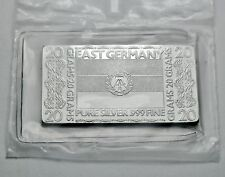 EAST GERMANY NATIONAL FLAG - SILVER PRODUCER .999 PURE SILVER MINT BAR INGOT