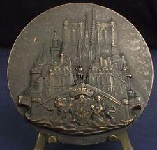 * Médaille Delannoy monuments Paris d'après Valentin Le Campion 80 mm Medal 铜牌