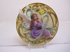 Small Decorative Embossed Purple Angel Plate Handcrafted with stand