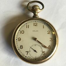 Antique Gold Plated Arlon Swiss Pocket Watch Not Working A/F