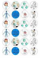 24 MEDICAL   CUPCAKE TOPPERS ICED ICING FAIRY CAKE BUN TOPPERS