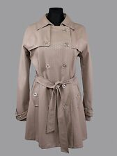 SOS JENSEN Women's Taupe Color Trench Coat Style Raincoat, SIZE L