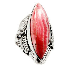 Native American Reproduction  Rhodochrosite   Silver Ring  S. 5 RR8796