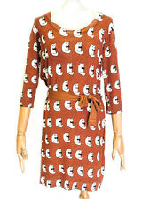 Miss Jolie Cat Print Jersey Dress