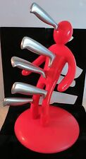 """Remember Your """"Ex"""" 5-Piece Knife Set with Red Man 'Holder', New in Box"""