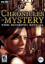 Chronicles Of Mystery The Scorpio Ritual PC Games Windows 10 8 7 XP Computer