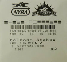CALIFORNIA CHROME $2 WIN TICKET 2014 146TH BELMONT STAKES  HORSE RACE