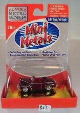 MINI metals 1/87 FORD Convertible 1948 ROSSO OVP #877