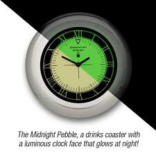 Gifthouse MP1 Midnight Pebble Illuminous Clock Drinks Coaster Roman Style - New