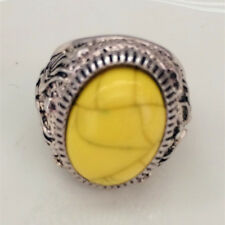 Hot Vintage woman 316L Stainless Steel Vogue Design Mini Stone Ring Size 10 *