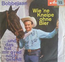 """7"""" 1962 KULT IN VG+ ! BOBBEJAAN Wie ne Kneipe ohne Bier"""