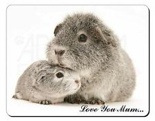 Silver Guinea Pigs 'Love You Mum' Computer Mouse Mat Christmas Gift I, GIN-3lymM