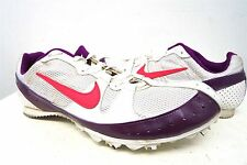 NIKE ZOOM Rival MD white purple track spikes cleats shoes- 8.5 /42 eur mens #244