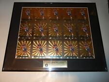 """1995 CLASSIC IMAGES GRANT HILL DUKE LIMITED EDITION UNCUT SHEET 16x20"""" FRAMED"""
