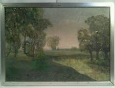 ANTIQUE NEW HOPE SCHOOL IMPRESSIONIST LANDSCAPE OIL ON CANVAS PAINTING