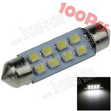 100X White 41mm DE3021 8 SMD 1210 LED Festoon Bulb Interior Light Lamp Car ZI304