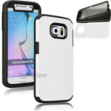 Hybrid Rugged Rubber Full Body Built In Film Case Cover for Samsung Galaxy S6
