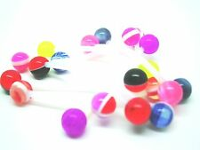10 flexi PTFE maternity mini balls PREGNANCY BODY BELLY BARS body jewellery