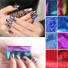 10X Foils Finger DIY Nail Art Sticker Decal Water Transfer Stickers Tips Decor