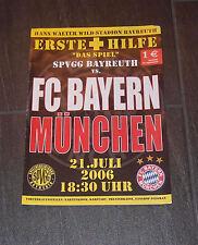 Stadio LIBRETTO Primo Soccorso SpVgg Bayreuth contro il Bayern Monaco 21.06.2006