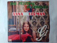"""ANNA GERMAN Gi 7"""" FRED BONGUSTO FESTIVAL DI SANREMO 1967 67 SUNG IN ITALIAN"""
